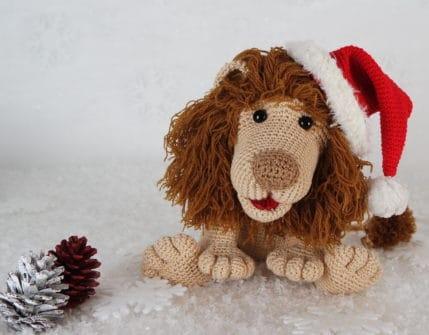 Häkeln zu Weihnachten Löwe Rudi, Anleitung