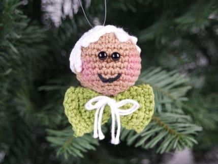 Lebkuchenmännlein häkeln. Als Anhänger für den Weihnachtsbaum oder zum Stecken