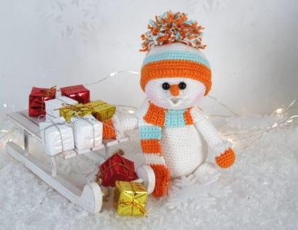 Der Schneemann bringt die Geschenke, Häkelanleitung