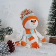 Häkelanleitung Schneemann mit Schal - Winter