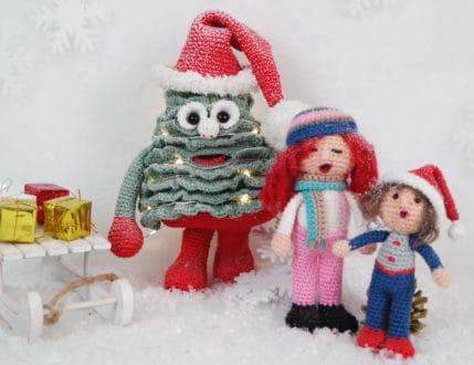 Weihnachtsbaum und die Weihnachtssänger häkeln, Anleitung