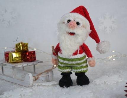 Häkeln: Werner Weihnachtsmann ist bereit für Weihnachten, Anleitung