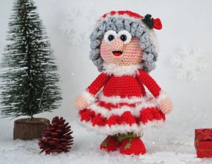 Wilma Weihnachtsfrau häkeln
