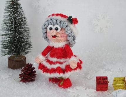 Gestatten, Wilma Weihnachtsmann. Ich bringe dieses Jahr die Päckchen. Häkelanleitung