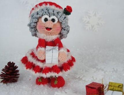 Weihnachten kann kommen. Wilma Weihnachtsfrau ist bereit! Als Anleitung zum Häkeln