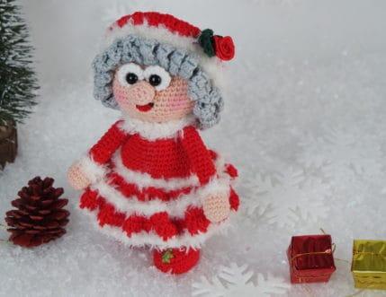 Diesmal hilft Wilma ihrem Weihnachtsmann Werner. Häkelanleitung