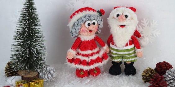 Häkelanleitung Wilma und Werner Weihnachtsmann