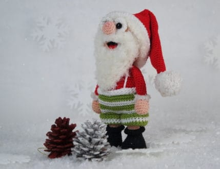 Häkeln für Weihnachten: Weihnachtsmann Werner