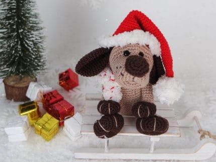 Ho Ho Ho, der Weihnachtshund kommt! Häkelanleitung