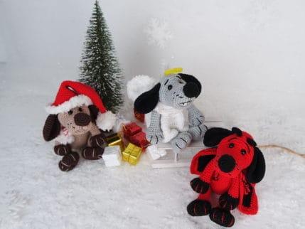 Häkeln: die Hundebande. Nicht nur für Weihnachten. Häkelanleitung