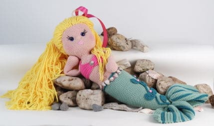 Anleitung zum Häkeln einer Meerjungfrau