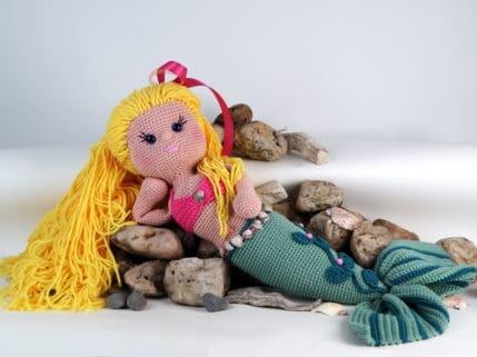 Meerjungfrau liegend. Häkelanleitung
