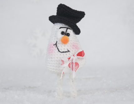 Häkelanleitung Schneemännlein mit Hut, ideal auch als Mitbringsel - Anleitung zum Häkeln