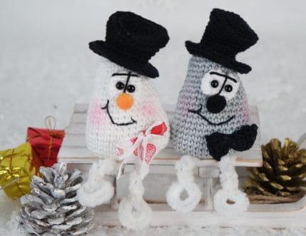 Weihnachten: Schneemännlein häkeln - Anleitung