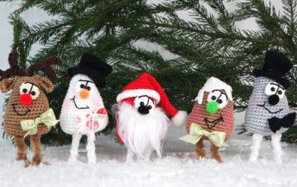 Lebkuchen, Elch, Schneemann zu Weihnachten - Häkelanleitung