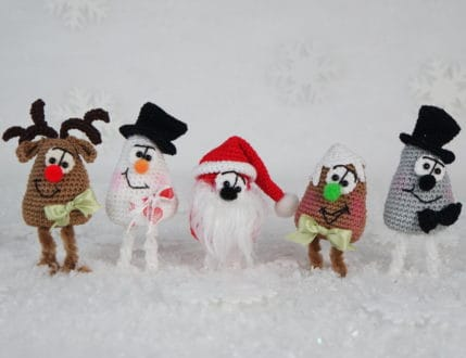 Amigurumi Weihnachtsfiguren 4er Set, Anleitung