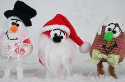 Häkeln: Für einen selbst oder zum Mitbringen: Weihnachtsfiguren