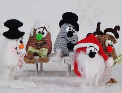 4 Weihnachtsfiguren häkeln, Anleitung