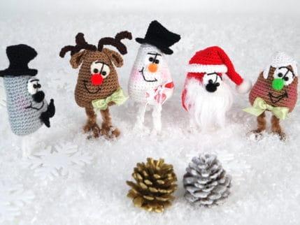Fünf freuen sich auf Weihnachten! Schnell gehäkelt und Hingucker.