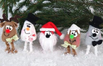 Weihnachtsfiguren 4er Set, Häkelanleitung
