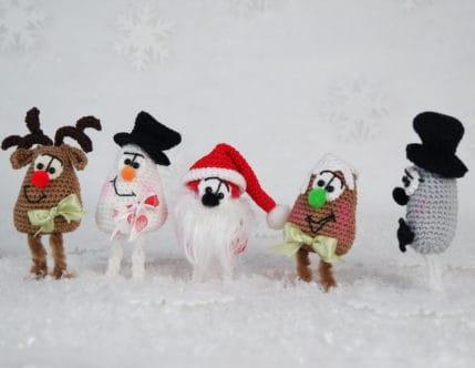 Häkeln: Weihnachtsfiguren 4er Set, Anleitung