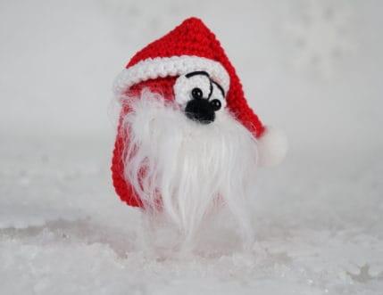 Amigurmi Weihnachtsmännlein, zaubert Dir ein Lächeln ins Gesicht - Häkelanleitung