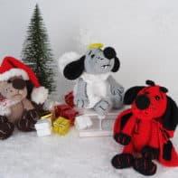 Engel-, Teufel- und Weihnachtshund. Die 3 Süßen als Häkelanleitung
