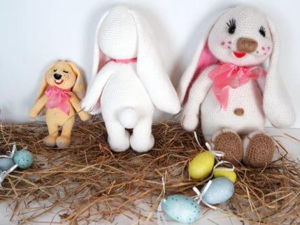 Die Osterhasenfamilie, Häkelanleitung