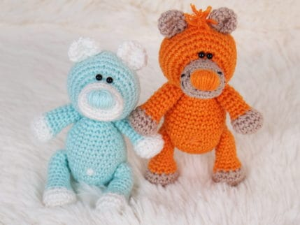Mini Bären auch als Taschenbaumler zum Selberhäkeln
