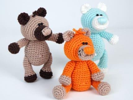 Die 3 Mini Bären zum Häkeln, Anleitung