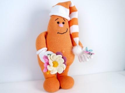 Häkelanleitung Puppe Fred Frühlingsbote