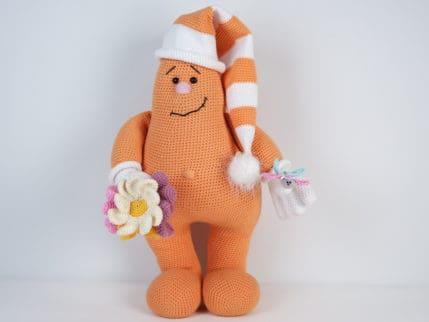 Amigurumi Puppe Fred Frühlingsbote
